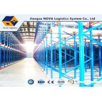 Quality Channel Type Radio Shuttle Racking , High Density Warehouse Pallet Racking wholesale