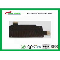Quality Black Solder Mask Flexible PCB Manufacturing for Mobile Phone , 1mil PI Material wholesale
