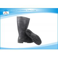 Durable Black 100% PVC Safety Industrial Rain Boots for Food Workshop