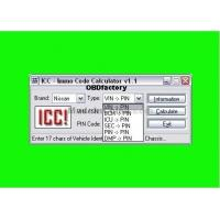 China Original ICC IMMO Calculator, Automotive Diagnostic Software for Nissan and Infinity on sale