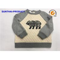Quality Fashion Baby Boy Quilted Jacket , Screen Print Raglan Sleeve Quilted Fabric Jacket wholesale
