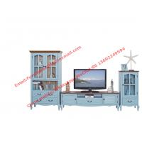 Cheap Mediterranean Style Living room Furniture by TV wall unit set Floor stand and for sale