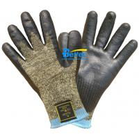 Quality 10 Guage Kevlar Camouflage Knitted Shell With Nitrile Dipped Anti Cut Work Gloves wholesale
