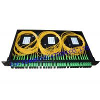 Cheap Rack Mount Fiber PLC Splitter Patch Panel SC / APC With 6pcs of 1 * 4 Splitter for sale