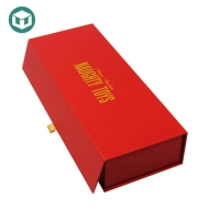 China Red Offset Printing Hard Paper 600GSM Wine Packaging Boxes on sale