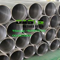Quality APT STC thread end wire wrapped continuous slot Johnson water well screens pipe wholesale