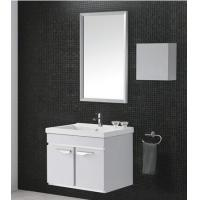China Modern MDF Bathroom Cabinet wall hung vanity 80 X45 / cm grey Color on sale