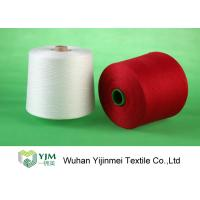 Quality Bright Red / White 100 Polyester Yarn Sewing Thread , Polyester Core Spun Yarn Knotless wholesale