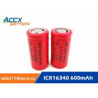 16340HP 600mAh 16340 3.7V li-ion battery 10-20C high rate power battery for electric toys, eircraft,