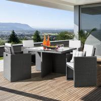 China Garden Furniture Cube Dining Set D-6174 on sale