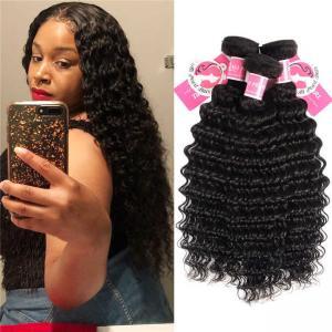 Quality Deep Wave Peruvian Human Hair Bundles 3 Pieces Virgin Remy Hair Weave wholesale