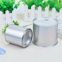 Quality 50g Small Tea Empty Tin Cans , Round Tinplate Custom Tin Cans Offset Printing wholesale