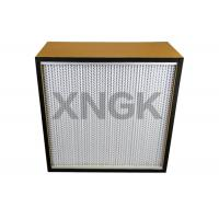 Quality Plywood Particle Board Frame Cleanroom Hepa Filter 0.3 Micron For  Pharmaceutical Or Food Industries wholesale
