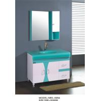 Quality Glass basin Beautiful bathroom vanity sink cabinets , soft closer 24 inch white bathroom vanity wholesale