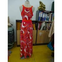 Cheap Beautiful Womens Summer Maxi Dresses Single Jersey Maxi Dress Coral Abstract for sale
