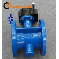 Quality 2 - 48 Stainless Steel Double Flange Rubber Lined Butterfly Valve DIN / ANSI wholesale