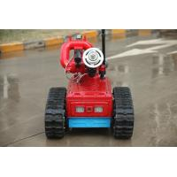 China Remote Control Automatic Fire Fighting Robot , Automatic Fire Extinguisher Robot on sale