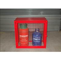 China Red Color Industrial Gas Cylinder Cages Various Sizes	800mmL*900mmH*430mmW on sale