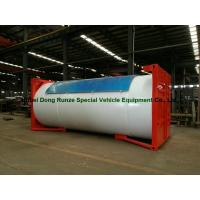 Quality Steel 20ft LPG Storage Tanks Container With Pump , LPG Skid Station ASME Certificate wholesale