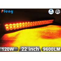 Quality 22 Inch 120W Cree Led Light Bar Amber White Flashing Emergency Lighting Bar wholesale