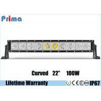 Quality Single Row 22 Inch Cree Curved LED Light Bar 100W High Power Cool White 6000K Jeep Roof Bar wholesale
