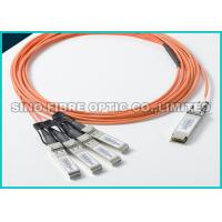Quality Termianted Simplex Fiber Optic Cable OM3 QSFP+ To 8LC 4 Channels 1 Meters wholesale