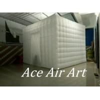 Quality 3m x3m x2.4m white lighting square style inflatable photobooth with 1 door enclosure for sale wholesale
