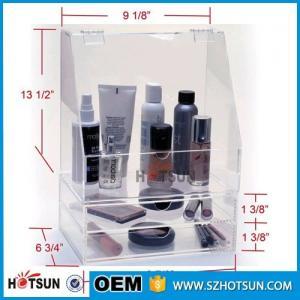 Cheap Diamond Handle Clear Acrylic Makeup Organizer, Acrylic Makeup Drawer Box, Flip for sale