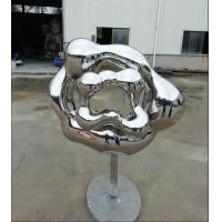 Quality Contemporary Outdoor Garden Sculpture , Abstract Mirror Stainless Steel Sculpture wholesale