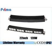 Quality 22 Inch Cree 120w LED Light Bar Amber White Single Row Light IP67 Waterproof wholesale