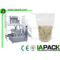 Quality Stand UP Zipped Pouch Rotary Packing Machine Oatmeal Doy Pack wholesale