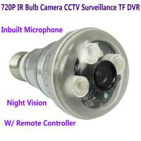 Quality 720P IR Night Vision LED Array Bulb Camcorder CCTV Surveillance DVR Camera Remote Control wholesale