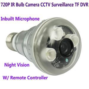Cheap 720P IR Night Vision LED Array Bulb Camcorder CCTV Surveillance DVR Camera for sale