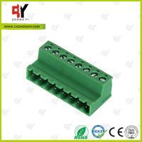 Cheap PA66 and Copper Connector Terminal Block HQ2TBKR 5.0 / 5.08 Spacing for sale