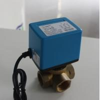 Quality 6 W Mixing Water Electric Ball Valve No Leakage For Heating / Cooling Systems wholesale