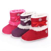 China New arrived Cotton fabric winter snow 0-2 years Outdoor baby boots booties on sale