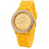 China Colourful Silicon Geneva watches for women hot sale geneva watches on sale