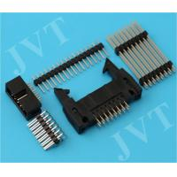 Quality Dual Row 2.54mm Pitch Pin Header Connector with SMT 2 - 50 Poles PA6T Housing 22 - 28 AWG wholesale