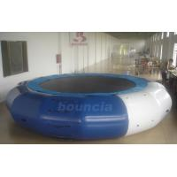 Quality 5m Diameter Inflatable Aqua Jumping Trampoline With Solid Net wholesale