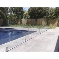 Quality 316 Anti-Rust Stainless Steel Spigots Frameless Swimming Pool Glass Railing wholesale