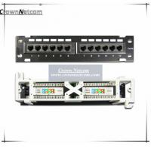 China Network 10 inch mini patch panel Cat5e 12ports patch panel wall mount & rack mount Fluke-Pass Category 5e Patch Panels on sale