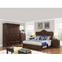 Quality King size Wooden Beds with Bespoke Armoire in Villa and Hotel furniture FF&E solution fixture with Spring mattress wholesale