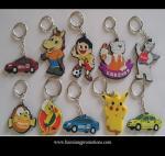 Quality Custom promotional silicone rubber keychain,cheap custom fashion souvenir keychain wholesale