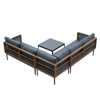 Quality Luxury SGS Approve 1200mm Breadth Rattan Corner Garden Furniture Sectional wholesale
