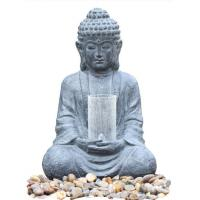 Quality Cyan Stone Sitting Buddha Water Fountain For Home / Asian Water Fountains wholesale