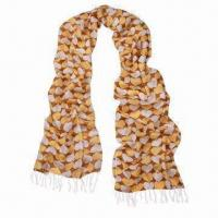 Quality Acrylic Scarf with Big Two-tone Hearts Print/Long Lace/Fashionable Design, Various Uses Available wholesale