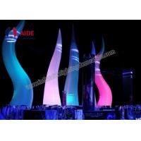 Quality 2.5m Inflatable Stage Decoration , Rental Business Inflatable Cone Silk Print wholesale