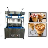 Quality Electric Mode Snacks Making Machine / Cone Pizza Forming And Pizza Cone Making Machine wholesale