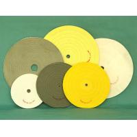 Quality white buff cotton stitched swen polishing wheel abrasive buff finished leather. wholesale