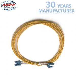 China G652D Single ModE LC - LC UPC Type Optical Fiber Patch Cord Duplex on sale